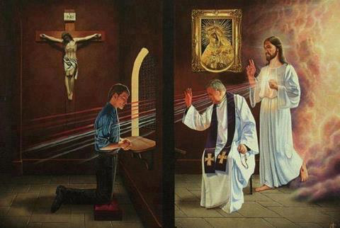 sacrament of penance, sacrament of reconciliation, confession